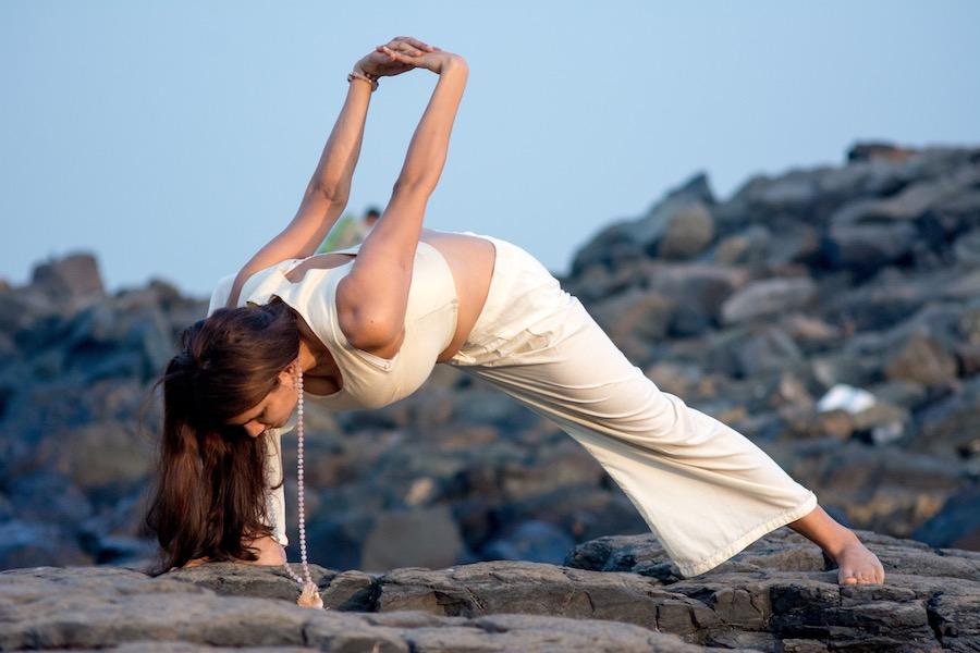 Karma Yoga, fallen warrior pose, Virabhadrasana