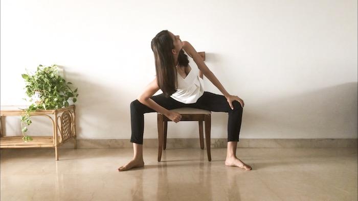Office yoga, chair yoga