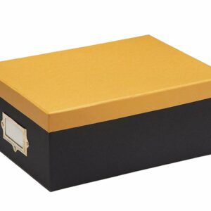 Document storage, Storage Box, Card board box, not plastic, Yellow box, Mustard box