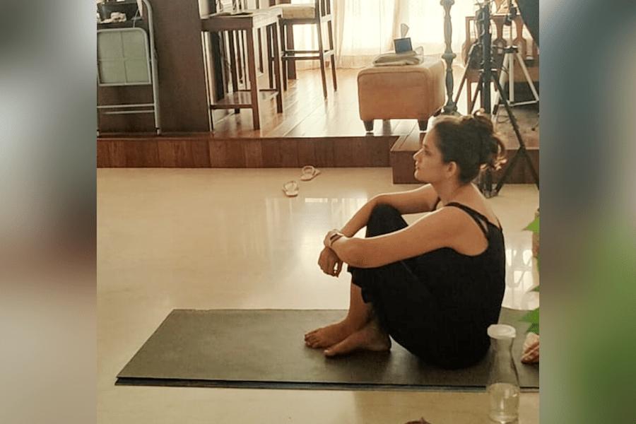 yogi watching movie
